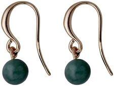 Pilgrim Jewellery Drop Earrings Rose Gold Plated Green 281734463