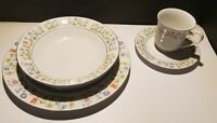 "Vintage Crown Ming Fine China ""Susan"" Multicolor Flowers & Green Leaves On Rim"