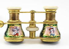 Verdi Paris French Opera Binocular Glasses Telescopic Enamel Gilt Bronze Theater