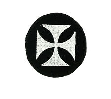 Patch iron on cross maltese  motorcycle biker german chopper gothic