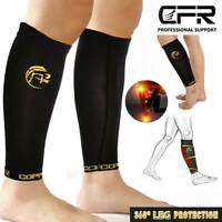 Copper Calf Leg Anti-Fatigue Compression Socks Support Sleeve Circulation Relief