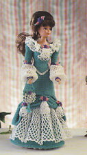 Crochet Pattern ~ FASHION DOLL THEATER GOWN DRESS ~ Instructions