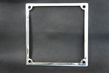 Vintage Stainless Number Plate Surround Holder for S3 GP Li SX Vespa Black Plate