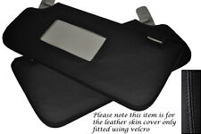 BLACK STITCH 2X SUN VISORS LEATHER SKIN COVERS FITS MERCEDES A CLASS W168 97-04