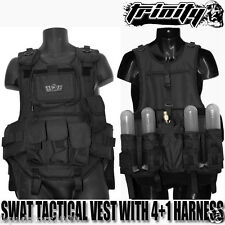 Tactical Paintball Vest With Pod Pack,Paintball Body Armor With Pack,4+1 Harness