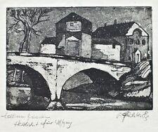 Peter Bichler - Zollhaus Bieberstein - Aquatintaradierung - 1983