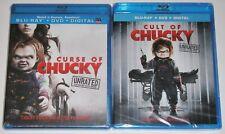 Horror Blu-ray DVD Lot - Curse of Chucky (New) Cult of Chucky (New)