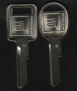 GM 2 1969 1973 1977 1981 Logo Key Blanks
