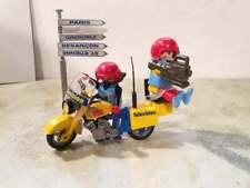 Playmobil 3847 TV Team Kamerateam mit Motorrad & Wegweiser camera crew 攝製組