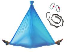 Studio Quality Blue Nylon Tricot Aerial Yoga Swing Hammock Silk COMPLETE SET