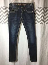 Rock Revival Size 25 0 Adele Super Skinny Dark Wash Jeans PERFECT Fleur de Lis