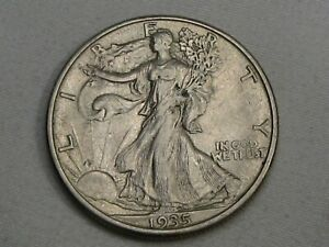 AU/UNC 1935-s Walking LIBERTY Half Dollar.  #19
