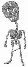 Dekoration Halloween Skelet glitzer silber Grusel Tischschmuck Deko Mottoparty