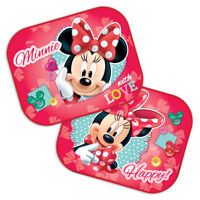 Disney Minnie Mouse With Love Car Window Sun Shades Blinds Mesh Baby Girl S89