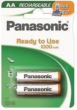 2 x Panasonic Akku AA 1,2V 1000mAh HR6 DECT Telefon Mignon Stay Charged Blister