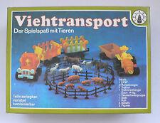 Ostalgie Plaho Viehtransport mit Tieren LKW Traktor set OVP 1970's DDR
