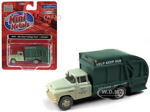 1957 CHEVROLET GARBAGE TRUCK IRONWOOD GREEN 1/87 (HO) CLASSIC METAL WORKS 30591