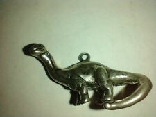 New listing Dinosaur Charm Pendant Brontosaurus Sterling Silver solid 925 .925 jewelry 3D