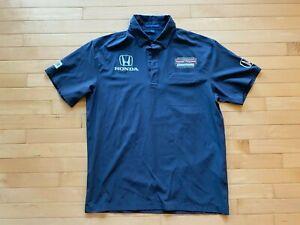 Schmidt Peterson size Mens Sz L Polo Grey pit crew shirt Port authority Pagenaud