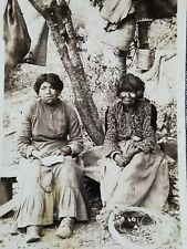 Old Native American Women California Postcard RPPC