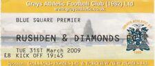 Ticket - Grays Athletic v Rushden & Diamonds 31.03.09