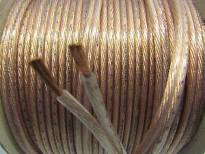 3M Transparent (2.2mm²) OFC Speaker Cable/Wire/Car Audio/Sub/Home Cinema/HIFI