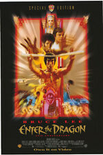 ENTER THE DRAGON VIDEO MOVIE POSTER BRUCE LEE NICE ART!