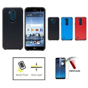 For LG X Charge 2 / LG X Charge / LG Fiesta LTE, Hard Double Layer Case