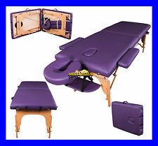 PURPLE CHARBURY PORTABLE MASSAGE TABLE COUCH BEAUTY THERAPY BED REIKI