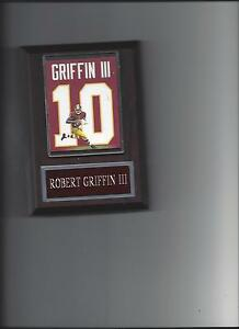 ROBERT GRIFFIN III JERSEY PLAQUE WASHINGTON REDSKINS RG3 FOOTBALL NFL