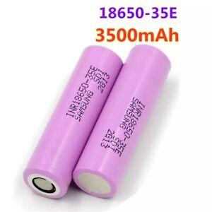 2x Samsung 18650 PILE BATTERIE RECHARGEABLE 3500 mAh LI-ION 3,7V  LAMPE TORCHE