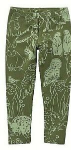 TEA COLLECTION  Cute Critter Leggings  - Light Olive - NWT Girls 6