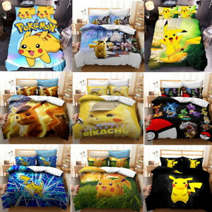 Pokemon Pikachu Collection Single/Double/Queen/King Bed Quilt Cover Set