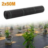 1pc 2m X 50m Ground Cover Fabric Landscape Garden Weed Control Membrane Heavy