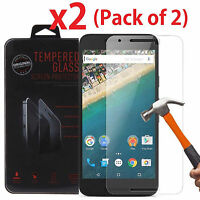 2-Pack  Premium Tempered Glass Screen Protector for Google Huawei Nexus 6P