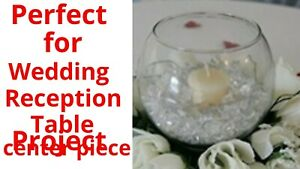 "10"" Wedding reception decoration Glass Bowl Table Center Piece Crisa by Libbey"