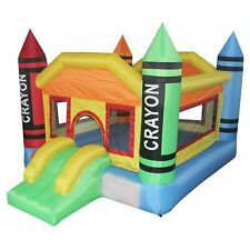 Bounce Zone Mini Residential Indoor/Outdoor Inflatable Colorful Crayon Bouncer