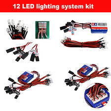 12 LED Simulation Lights Steering System Lighting Kit for TAMIYA 1/8 1/10 RC Car