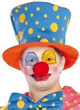 Donna Da Uomo A Pois Clown Cappello Circo Carnevale Costume Accessorio