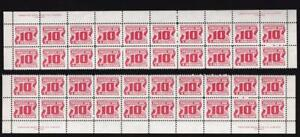 Canada 1973 Postage Due 10¢, MLH PB strips 40 stamps, side imprints, sc#J35ii