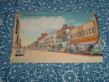 1950s STATE ST BETWEEN 8th & 9th STREET ERIE PENNSYLVANIA COLOR LINEN POSTCARD