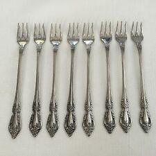 New ListingOneida Raphael Cocktail Forks Distinction Deluxe Stainless Flatware Lot Of 8