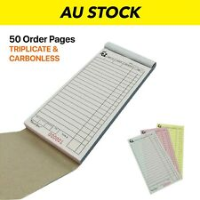 50x  LARGE Order Docket Books Restaurant Books CARBONLESS & TRIPLICATE 95x200mm