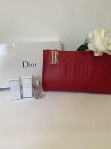 Christian Dior Red Trousse Makeup Zip Pouch And Doir Joy Eau De Perfumes Intens