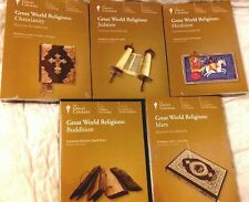 The Great Courses - GREAT WORLD RELIGIONS  (10 DVDs & 4 Books) 5 Different NEW!