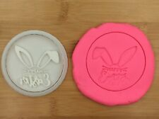 Easter Bunny Ear Cookie Fondant Stamp Embosser With Cutter Cake Biscuit  Mould