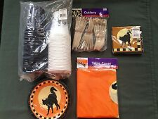 Oriental Trading Halloween Party Pack Cups Plates Napkins Cutlery Tablecloth New
