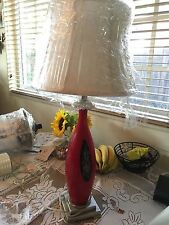 Original Dale Tiffany Fabric Roseville Table Lamp GT701142 3 Way Brushed Nickel