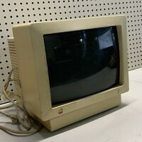 Vintage Apple Color Monitor IIc Model Number: A2M4043 Powers On COLLECTIBLE