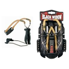 Barnett Black Widow Slingshot Catapult with 10 ball bearing practice ammo